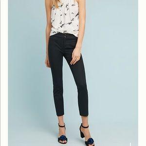 Anthropologie Essential Slim Trousers Sz OP Black